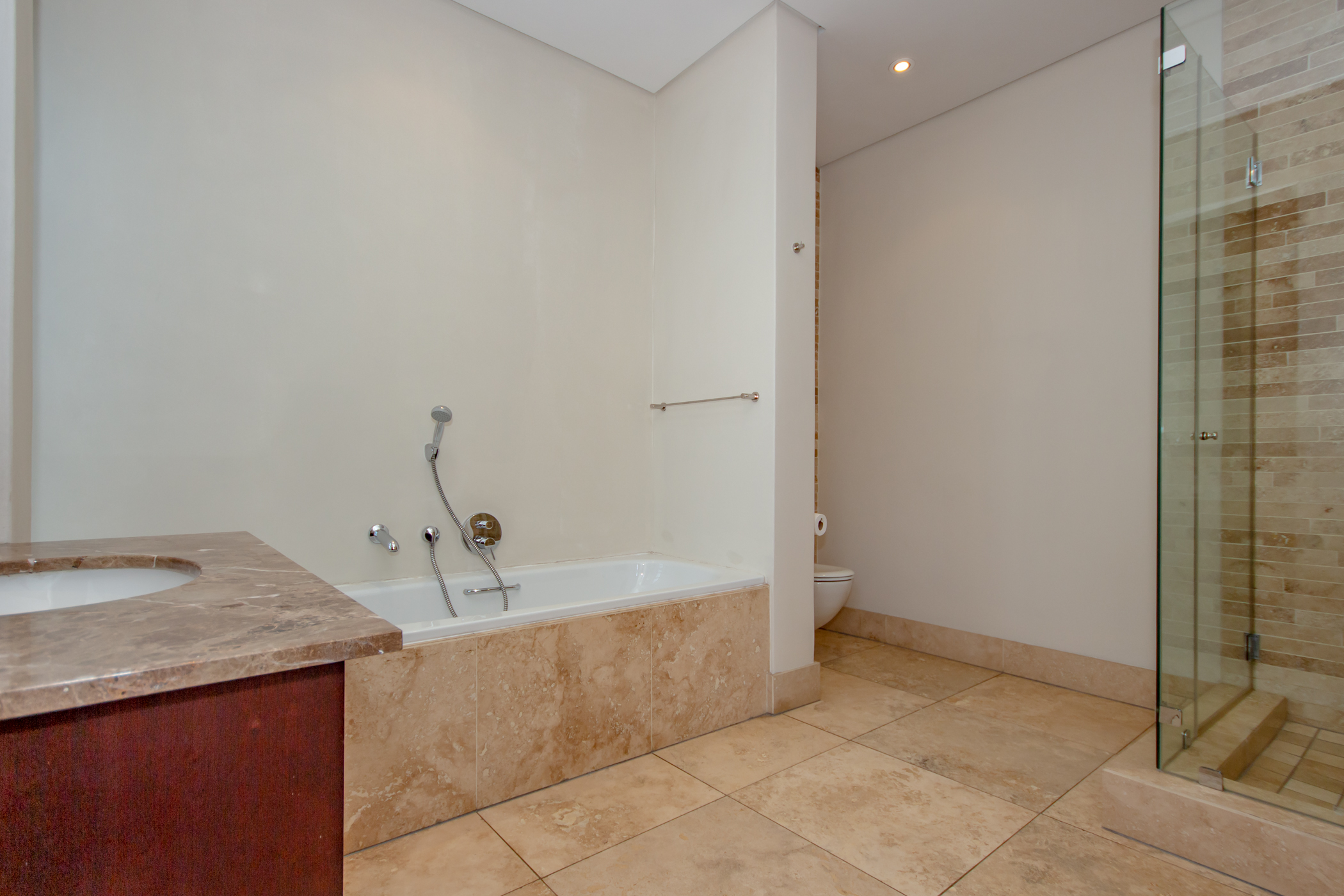 """""""Melrose arch luxury apartment modern bathroom"""" """"Flats for rent in Johannesburg"""""""