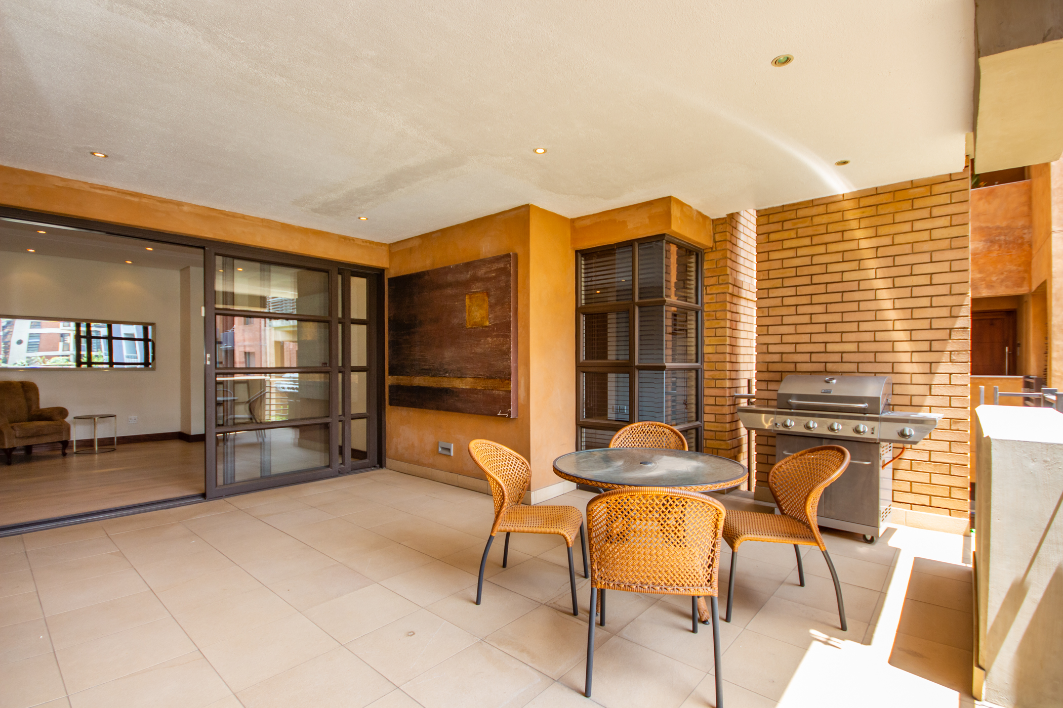 """""""Melrose arch luxury apartment outdoor living area, patio"""" """"Flats for rent in Johannesburg"""""""