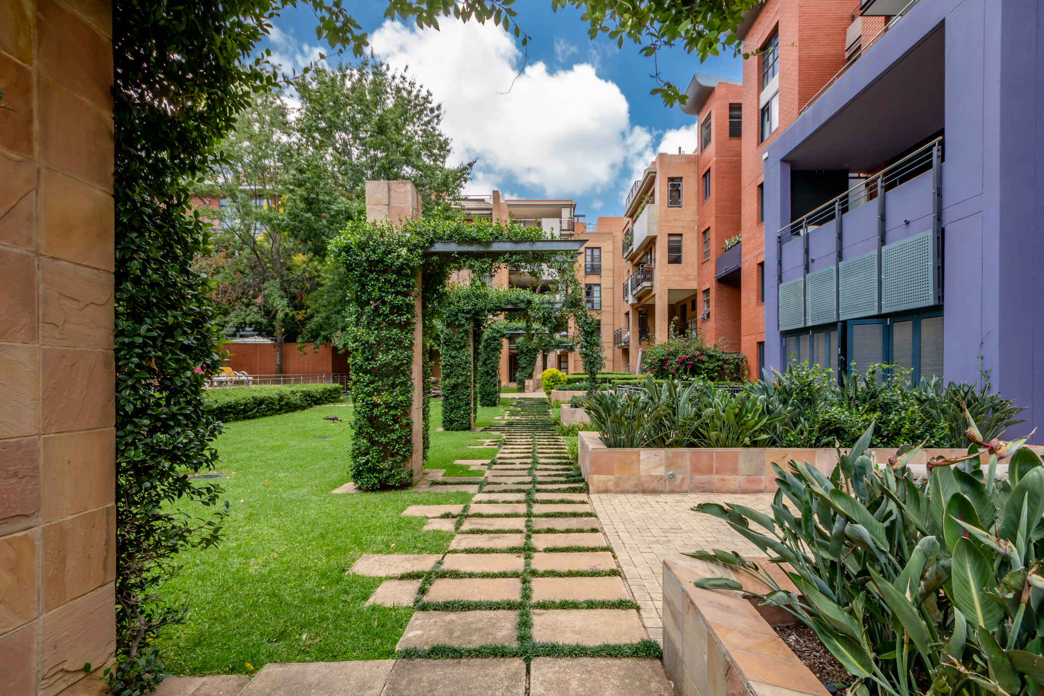 """""""Melrose arch luxury apartment garden"""" """"Flats for rent in Johannesburg"""""""