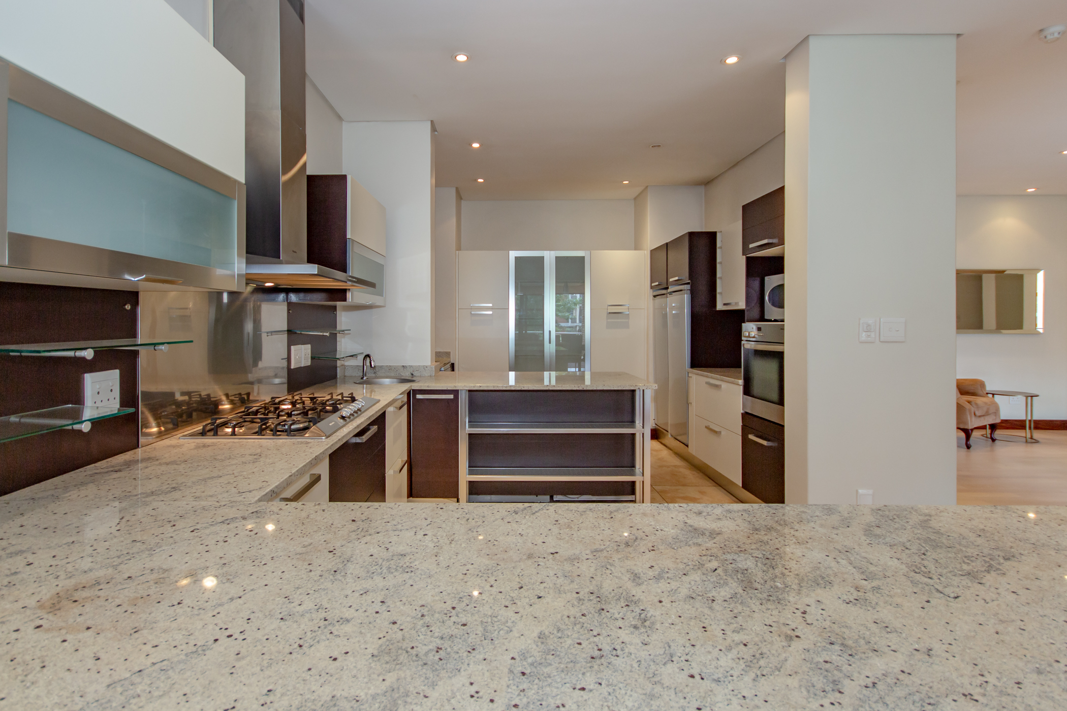 """""""Melrose arch luxury apartment neat modern kitchen """" """"Flats for rent in Johannesburg"""""""